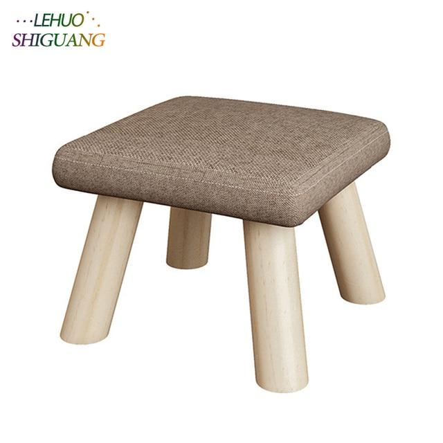 Модная детская мебель сиденье стул otomans деревянная Ткань дверной проем изменить обувь маленький стул стол боковые детские стулья