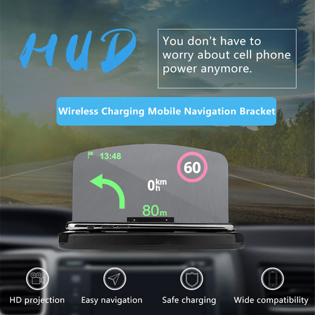 Aliexpress Buy Car HUD 40W Wirelress Charger For Iphone X 40 Stunning Car Battery Display Stands