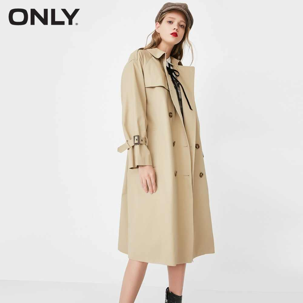 ONLY Double-breasted long wind coat |118136516