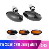 2 piezas para Suzuki Swift Jimmy Vitara SX4 Alto llevó lado marcador Luz de señal de giro secuencial intermitente luz ámbar indicador