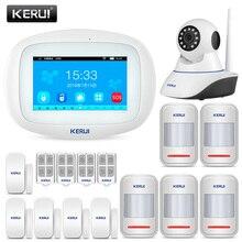 KERUI K52 720P ip-камера видеонаблюдения беспроводная охранная Wi-Fi gsm сигнализация Система безопасности для дома Android ios приложение управление