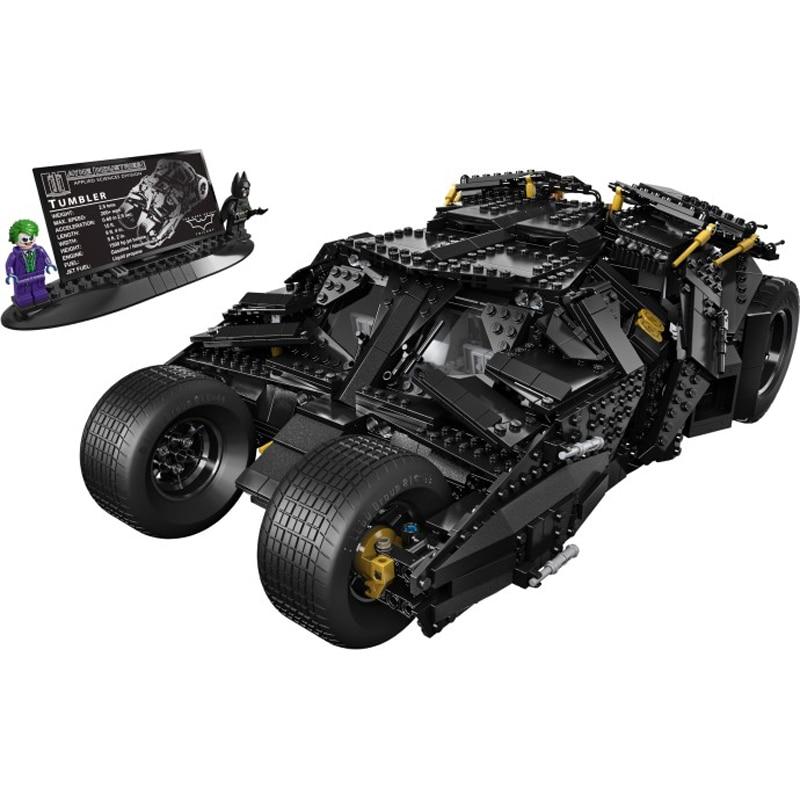 Decool 7105 325pcs Super Heros Series Batman Bat chariot Model Building Block set Bricks Toys For children Boys Gift