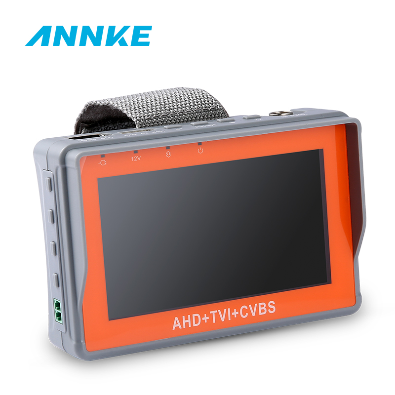 ANNKE 4.3 Inch 1080P CCTV Tester AHD CVI TVI Analog CVBS In 1 Camera Tester Monitor Support UPT PTZ Audio Test DC12V Output