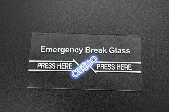 10pcs Glass For Emergency Break Glass Door Release Switch In Access