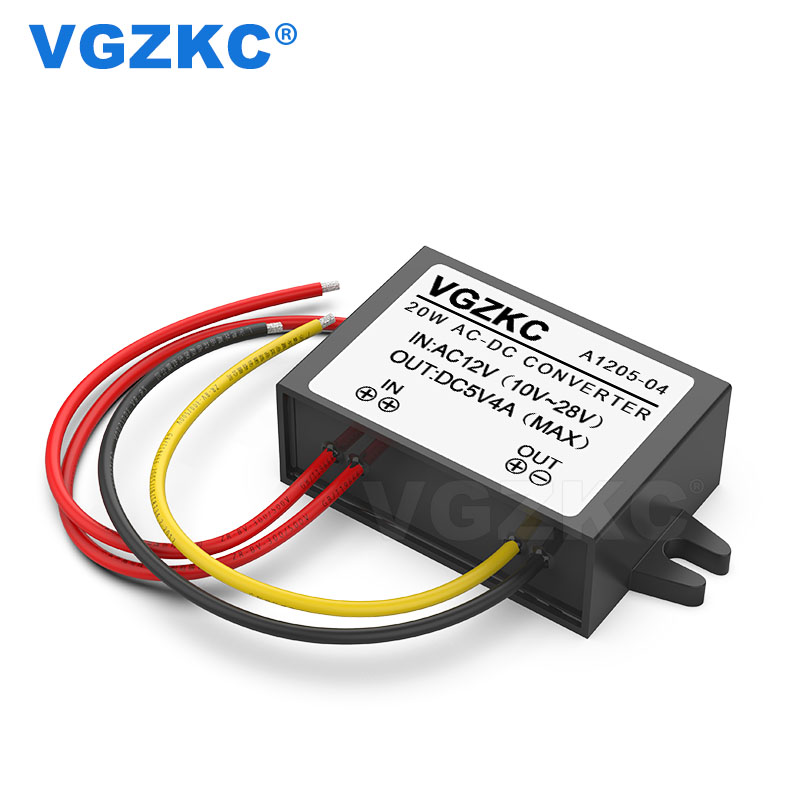 Flame Retardant Plastic Shell 20W AC <font><b>12V</b></font> to <font><b>DC</b></font> <font><b>5V</b></font> Power <font><b>Converter</b></font> <font><b>DC</b></font> Voltage <font><b>Converter</b></font> Module image