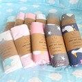 22 colores de la hoja de Cama de Algodón raya Nube patrón de dibujos animados cama hoja plana ropa de cama de bebé recién nacido conjunto para niñas