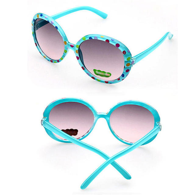 6acbdb51d2 Circle Dots Child Sunglasses UV400 Boys Girls Wholesale 2017 New Candy  Color Colorful Environmental Summer Kids Glasses 118