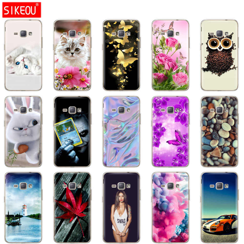 silicone Case for Samsung Galaxy J1 2016 case  J120 J120F SM-J120F Cover for samsung J 1 cover funda full 360 Protective coqa
