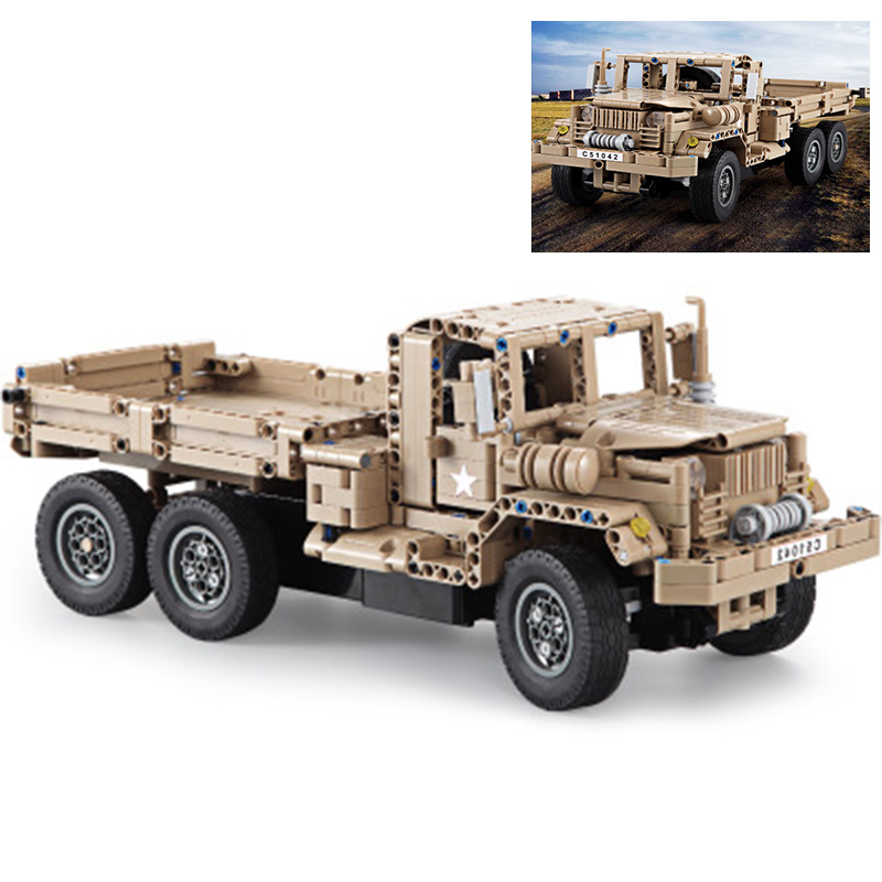 C51042 545pcs  Military Tank Truck Series Remote Control RC Building Block Weapon Army DIY Model Toys Compatible BrandC51042 545pcs  Military Tank Truck Series Remote Control RC Building Block Weapon Army DIY Model Toys Compatible Brand