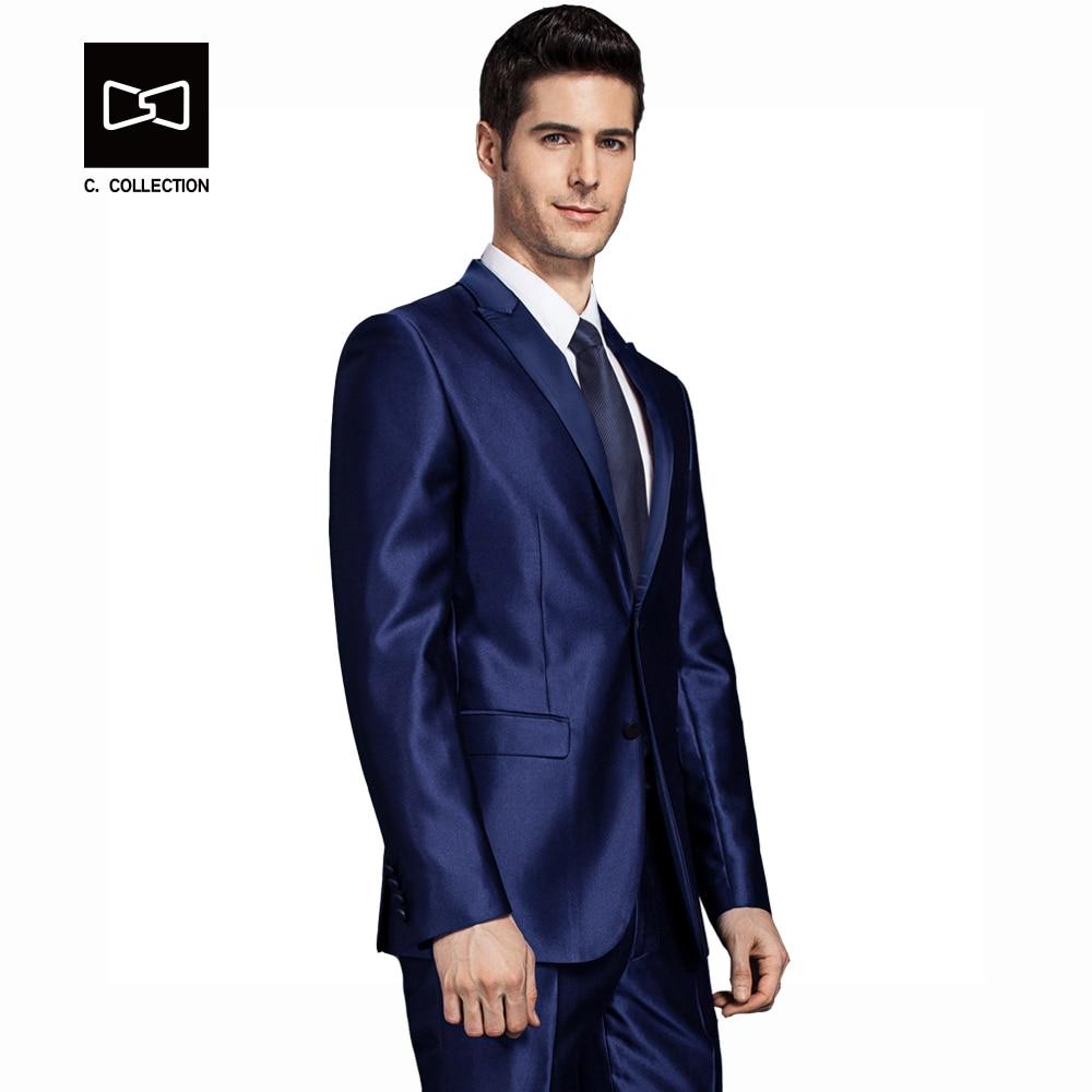 2017 Männer Bräutigam Hochzeitsanzug Jacke Mantel Männer Slim Fit Formal Männer Anzug Blazer Mode Kleid Luxus Smoking Blazer 2019 New Fashion Style Online