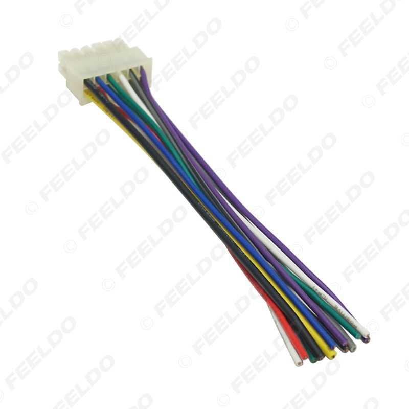 feeldo universal 12pin car wire harness adapter connector plug into car  dvd cd radio stereo