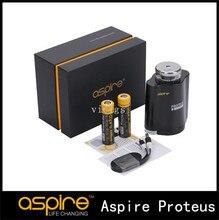 100% original aspire proteus e-pipa de agua con 10 ml de capacidad de doble 18650 hookah kit proteus