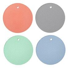 Лидер продаж Многофункциональная подставка 18 см круглый термостойкого Honeycomb силиконовый Coaster противоскользящие плоский электронагреватель Кухня инструменты