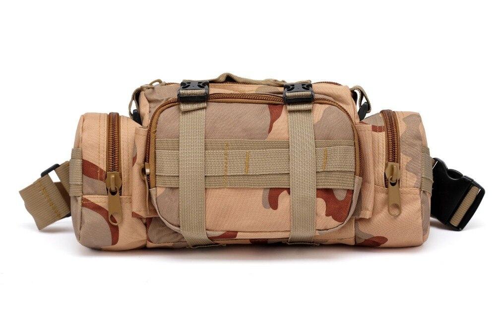 Desert Sand Outdoor Medical Bag Camouflage Pocket Multi-function Waterproof Fishing Rod Bag Shoulder Bag Backpack Tactical Bag