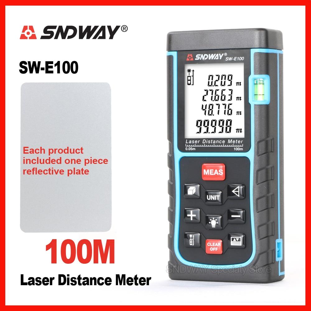 SNDWAY Handheld Laser Tester di Distanza del Telemetro Range Finder SW-E40m 50 m 60 m 70 m 80 m 100 m Nastro trena Righello Tester Strumento Mano