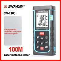 SNDWAY Handheld Laser Distance Meter Rangefinder Range Finder SW 40m 50m 60m 70m 80m 100m Tape