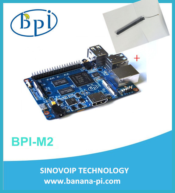 In stock!  BPI-M2 Banana Pi M2 A31S Quad Core 1GB RAM on-board WiFi Open-source development board singel-board computer