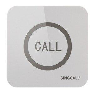 Image 2 - SINGCALL Wireless שיחת פעמון, סופר גדול Touchable יחיד כפתור עם פונקציה עמיד למים, APE520