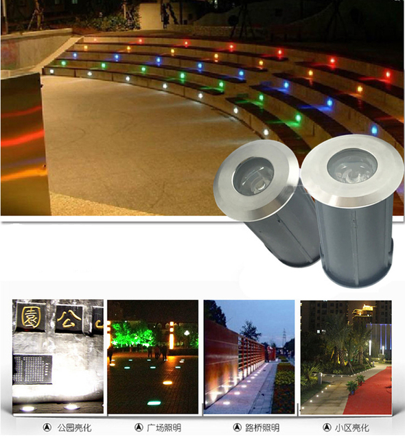 24pcslot 3w ce rohs 12v or ac85 265v recessed lighting outdoor lamp 24pcslot 3w ce rohs 12v or ac85 265v recessed lighting outdoor lamp led aloadofball Images