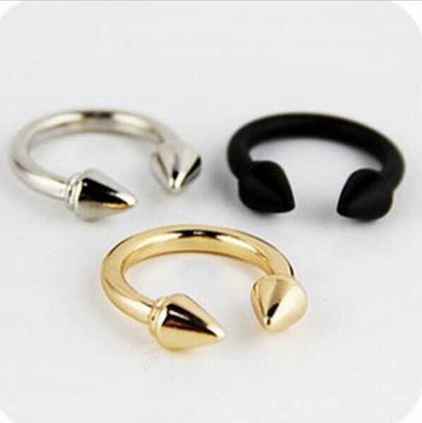 Mini order $1) Exaggerated influx of people in Europe and America retro punk rivet arrow female ring finger ring CRD128