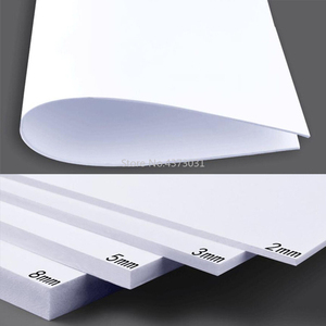 Image 4 - 5 قطعة 300x200 مللي متر أبيض/أسود ألواح فوم بلاستيكية من البولي فينيل كلورايد لتقوم بها بنفسك بناء نموذج مواد صناعة يدوية نموذج صنع مادة بلاستيك لوح مسطح