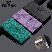 Tsimak Wallet Case For Huawei P9 Lite Luxury Retro Flip PU Leather Phone Cover Coque Capa