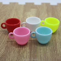 50pcs/lot plastic solid Simulation colorful bow cup 40mm crafts DIY dollhouse christmas Jewelry Making Findings