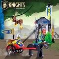 Castillo enlighten bloques de construcción de juguetes educativos para niños de regalos mini caballero mono carro compatible con legoe