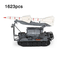 Military T-55 Tank Track vehicle With SA-2 Guideline Minifigs Figures compatible legoinglys Army Tanks Building Blocks Toys Gift
