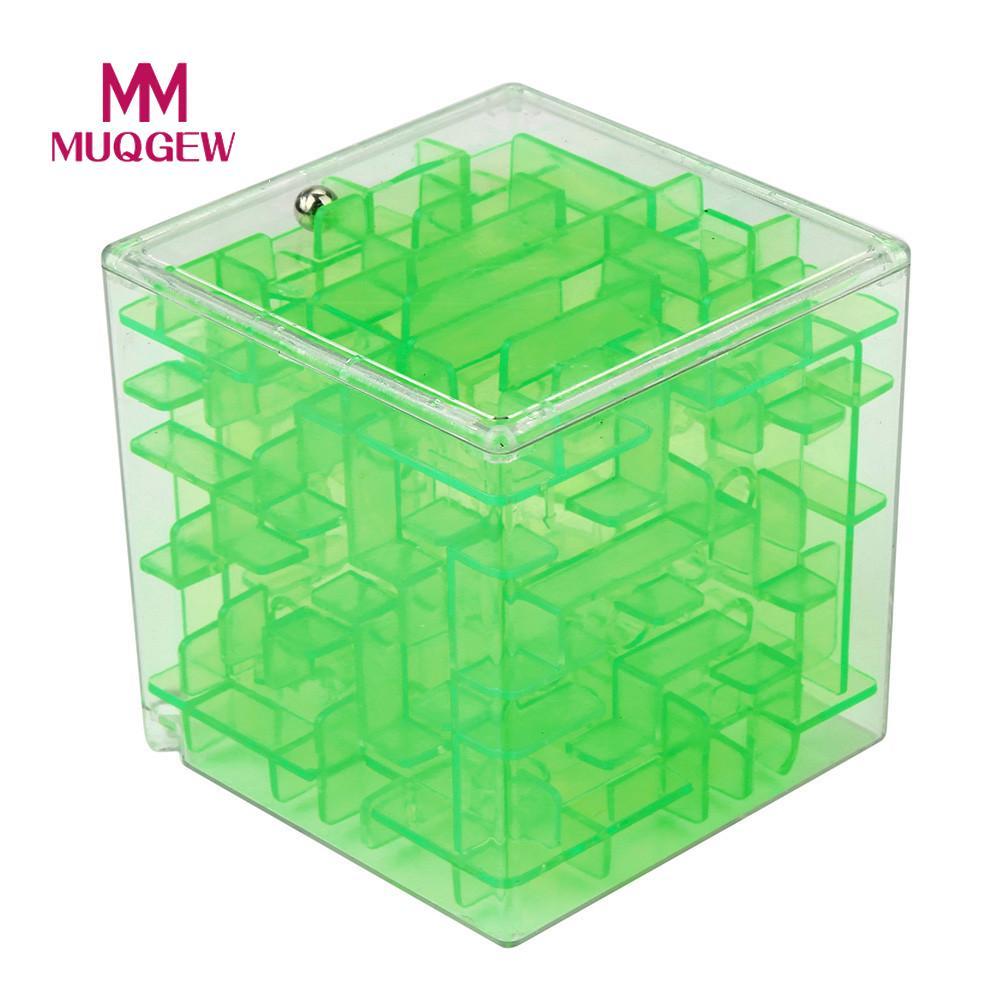 MUQGEW Brand 3D Cube Puzzle Maze Toy Hand Game Case Box Fun Brain Game Challenge Fidget