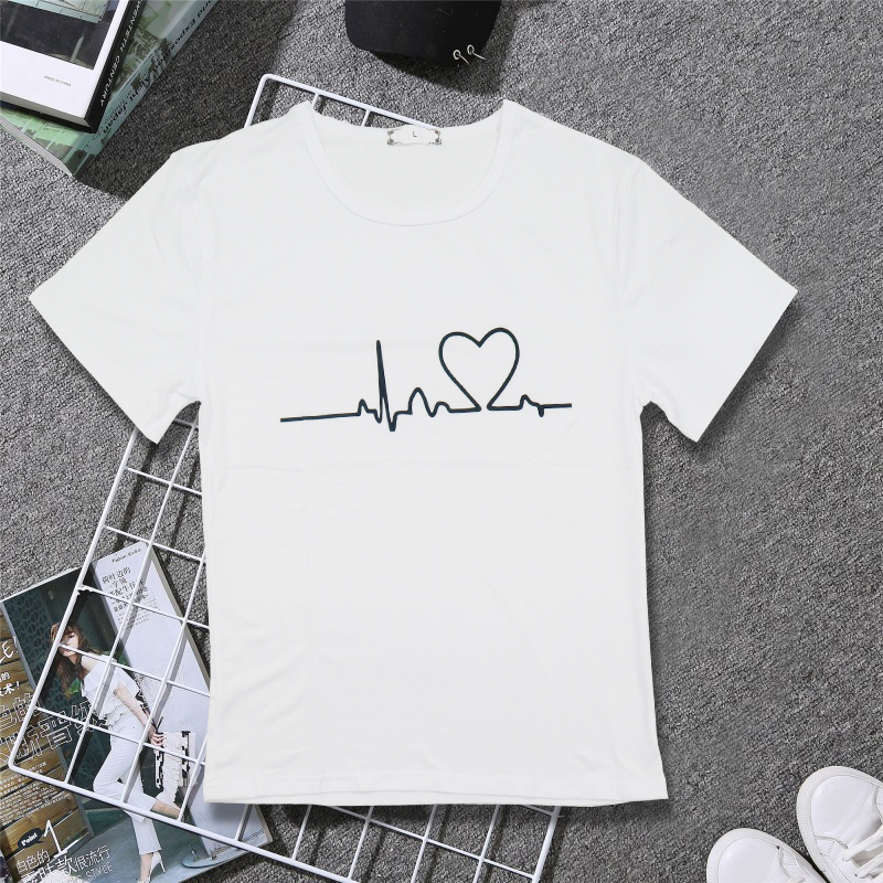 19 New Harajuku Love Printed Women T-shirts Casual Tee Tops Summer Short Sleeve Female T shirt for Women Clothing 15