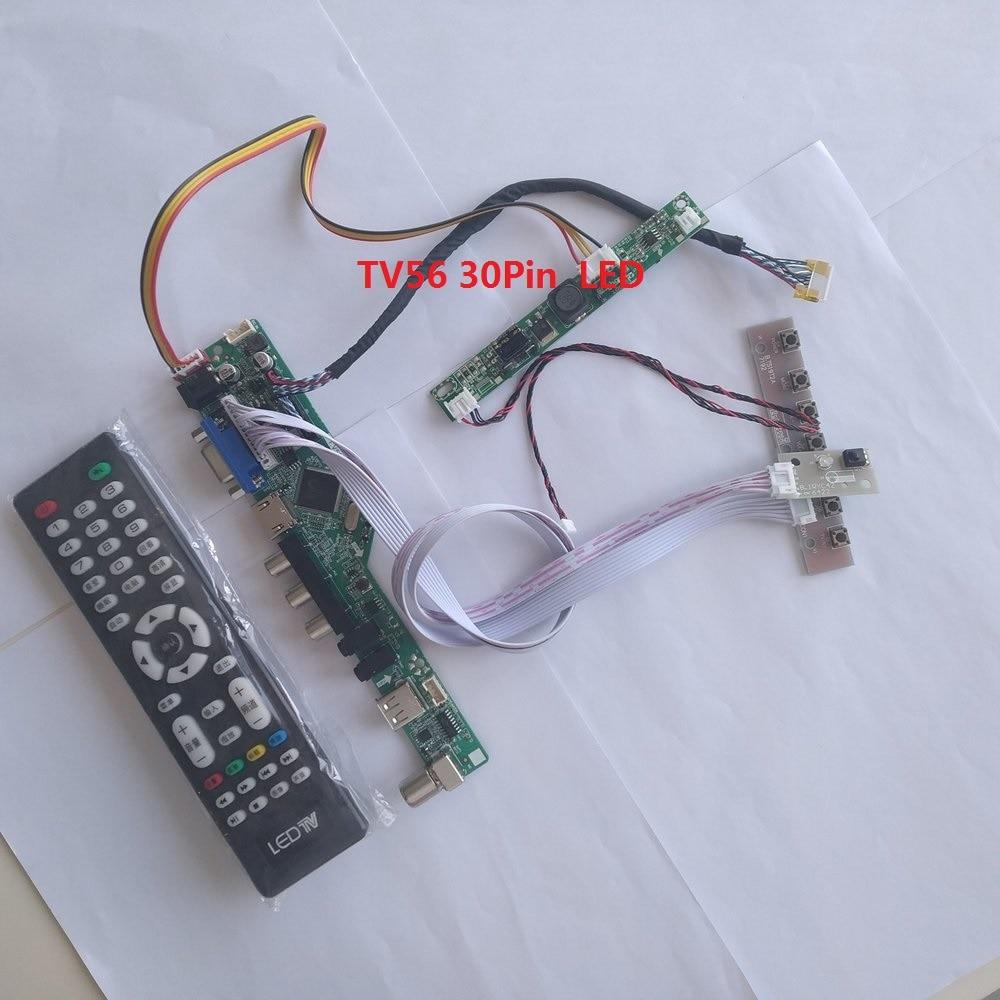 "kit for M240HW01 V9 VGA HDMI 1920X1080 Screen Panel Controller board 24"" DIY CVBS USB TV AV LCD LED LVDS 30pin"