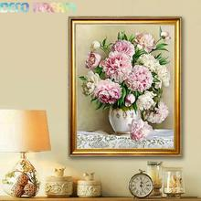 Aliexpress Value Set Sale 5pc/lot Diy Full Resin Round Diamond Painting Cross Stitch Embroidery Kit Peony Flowers Mosaic Hobby