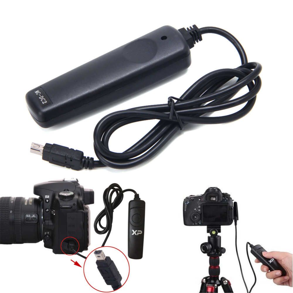 MC-DC2 Wired Remote Shutter Release For Nikon D3100 D7100 D3200 D5100 D5200 D600 1 2 lcd wired remote shutter release for nikon camera black