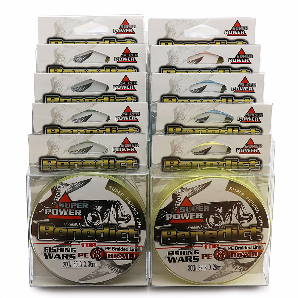 braided fishing line 8 Strands weaves 300M super pe fiber wires line Japan Multifilament  fishing rope 6-100LB fishing cords