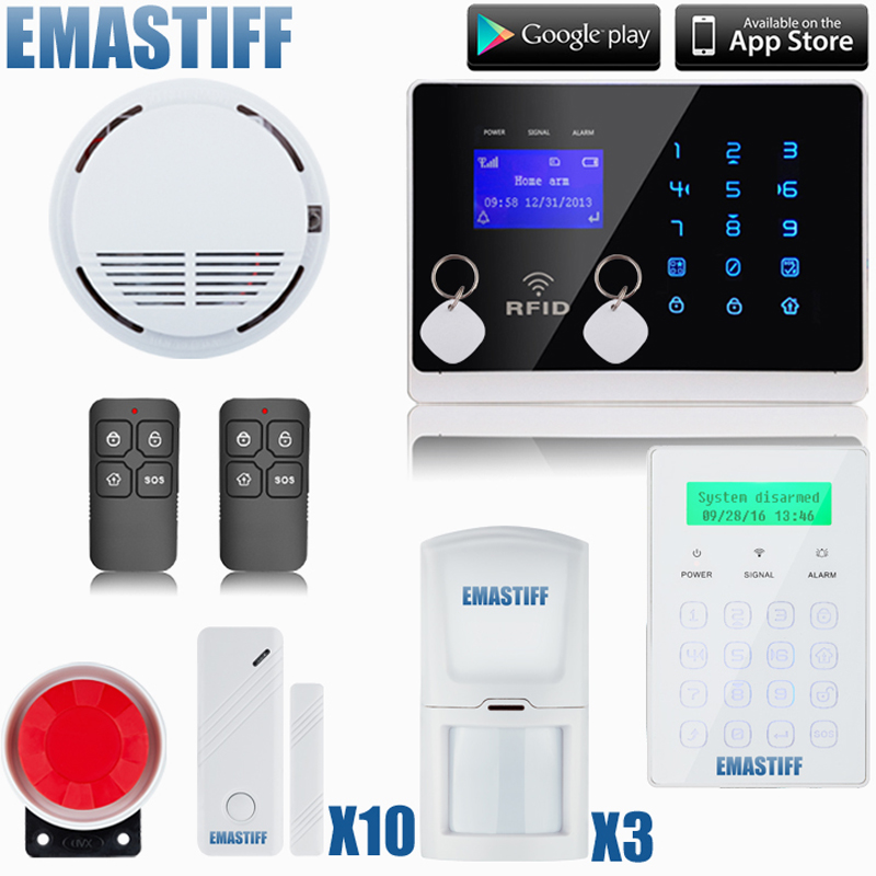 Free shipping Wireless SMS Home GSM Alarm system House intelligent DIY Burglar Security Alarm System wireless home gsm sms alarm system home office commercial company security voic prompt intelligent burglar security alarm system