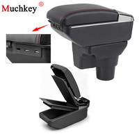 Car USB Accent Armrest Box For Hyundai Solaris 2 2017 Central Store Content Box Cup Holder Console Arm Ashtray Car Accessories