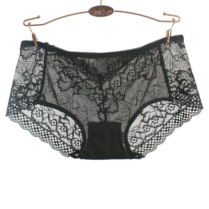 5947c295410 VS victoria underwear women sexy plus size panties lingerie lace black  white transparent briefs womens see through panties panty