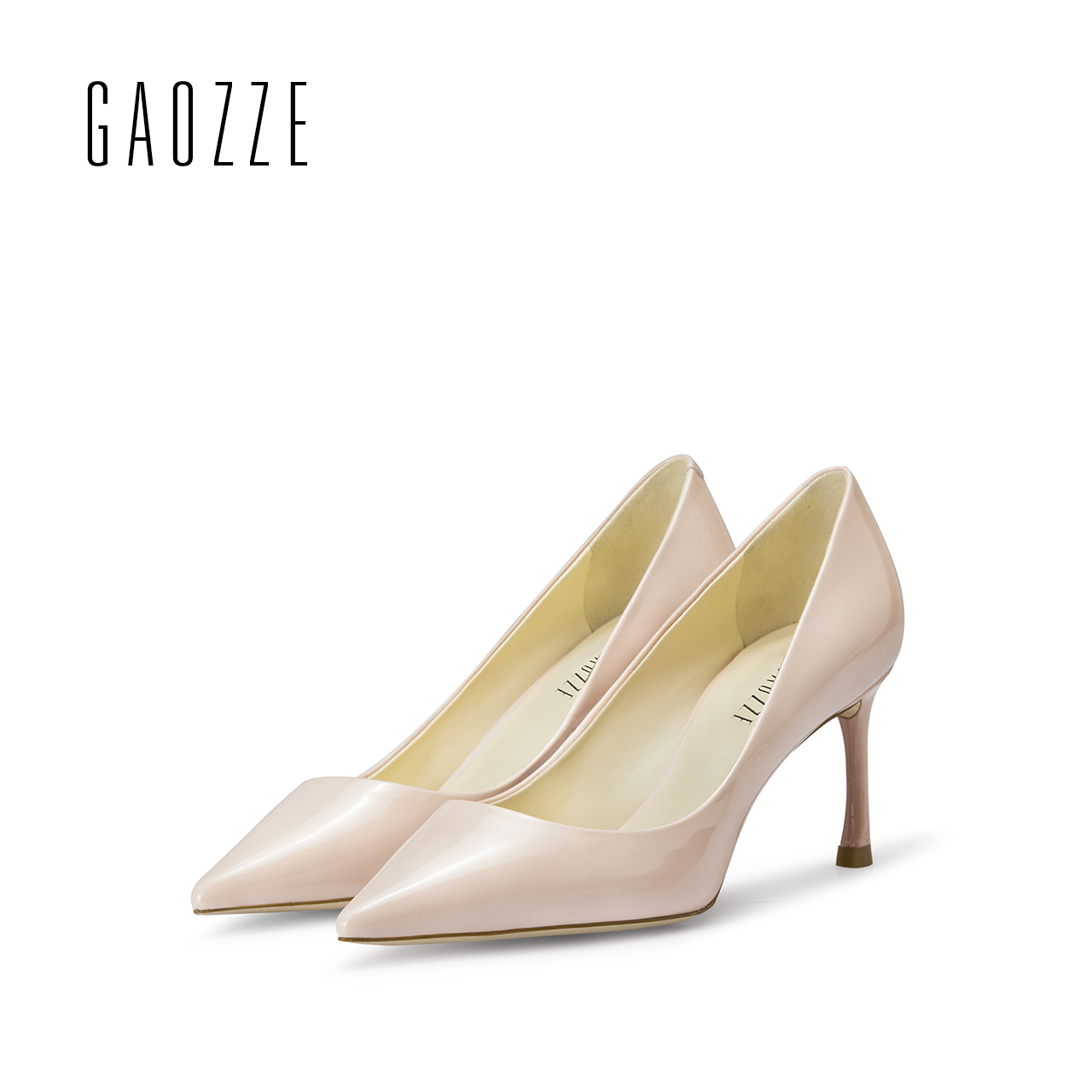GAOZZE pink women leather shoes high heels pumps shoes pointed toe shallow mouth high heels female shoes 2017 spring summer black 2016 wine red navy blue cashmere genuine leather round toe shallow mouth ultra high heels female boots female