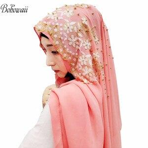 Image 5 - BOHOWAII Islam India Muslim Hijab Scarf 14 Colors Women Underscarf Hoofddoek New Design Kopftuch Headscarf Hijab Femme Musulman