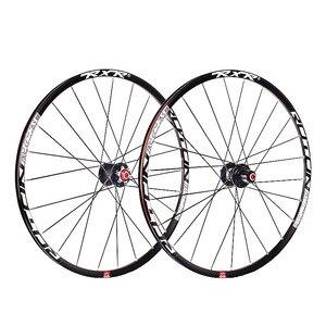 Image 5 - 2020 MTB Mountain Bike Carbon fiber drum 26er 27.5er 29er Six Holes Disc Brake bicycle Wheel 7/11 Speed Alloy Rim Wheelset