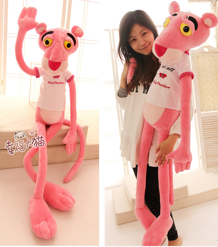 larggest size 180cm pink panther plush toy panther doll toy birthday gift t9006