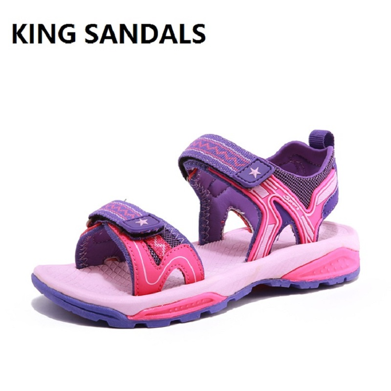 KING SANDALS Summer Boys Girls Outdoor Sneakers For Kids Beach Shoes Children Open-toe sandalia kids Sport Running School Shoes