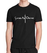 SAO Sword Art Online Print Men's T Shirt Kirigaya Kazuto Anime fitness mma t shirt homme fashion hip hop hipster brand clothing