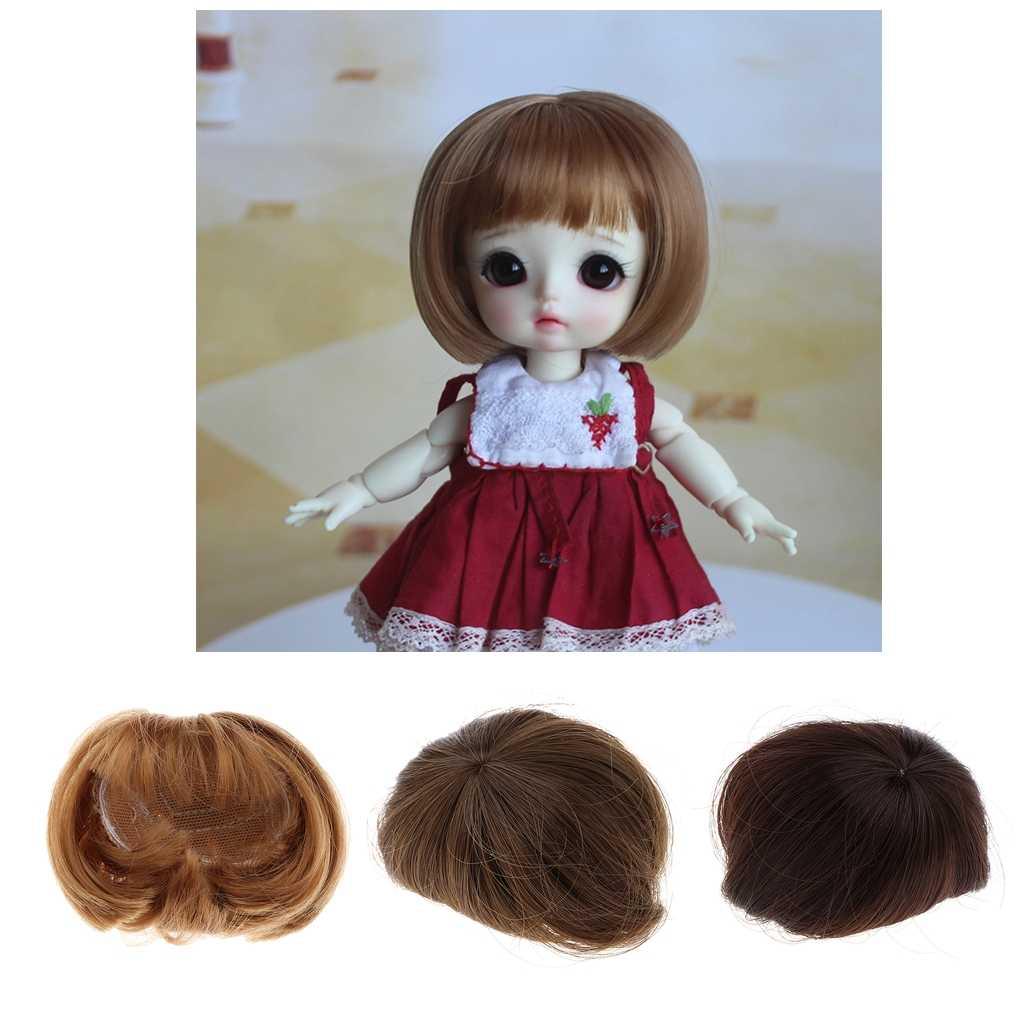 Adorable muñeca Pelo Corto Bob peluca 1/8 BJD suministros de fabricación de muñecas