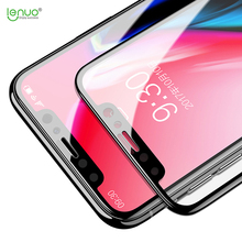 For apple iphone x iphonex screen protector LENUO DF 3D heat bending curved edge AGC ALL Tempered glass film for iphone 10 ten