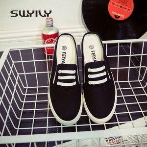 Image 3 - Swyivy 44 Unix Sneakers 2018 Lente Zomer Vrouw Canvas Slippers Liefhebbers Casual Slip Op Luie Schoenen Vrouwelijke Ademend Sneakers