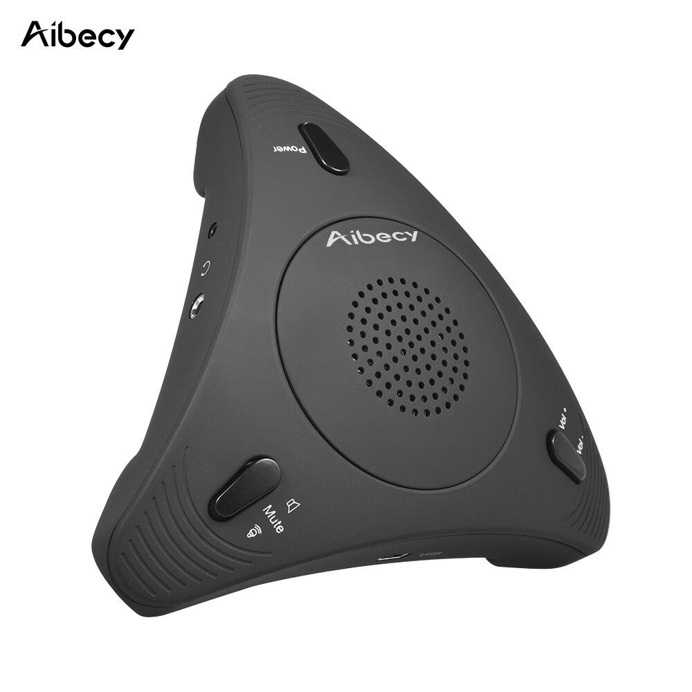 Aibecy USB Desktop Computer Conference Omnidirectional Condenser Microphone Mic Speaker Speakerphone 360D Audio Pickup For Meet