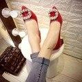 2016 la primavera y el otoño de diamantes de la moda temperamento sólido de charol señaló zapatos de tacón alto sexy zapatos cómodos zapatos de trabajo