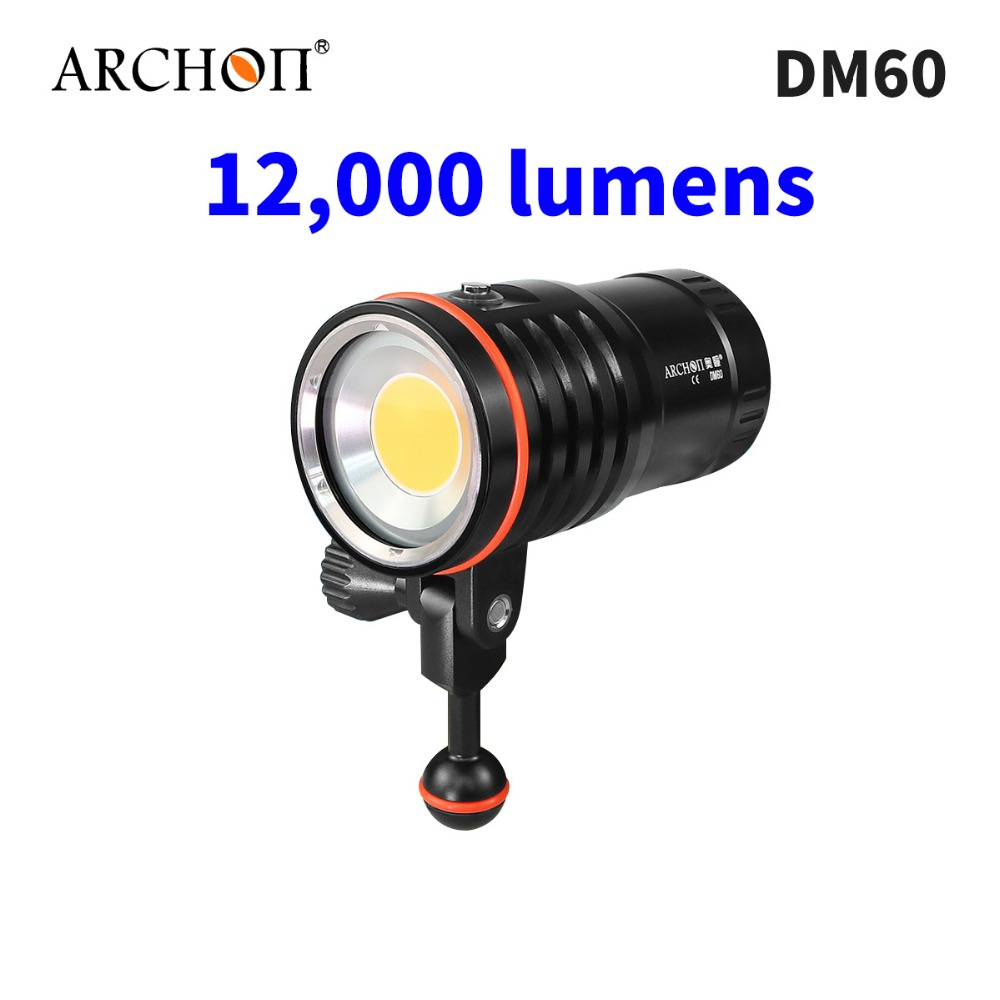 ARCHON DM60  WM66 COB Diving Video Light max 12,000 Lumens Underwater photography spot light diving light 100 meter waterproofARCHON DM60  WM66 COB Diving Video Light max 12,000 Lumens Underwater photography spot light diving light 100 meter waterproof